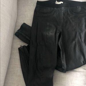 Helmut Lang leather skinny pants / leggings